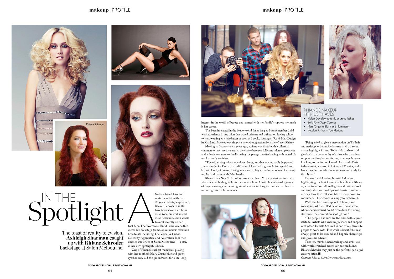 Professional Beauty Magazine Rhiane Schroder